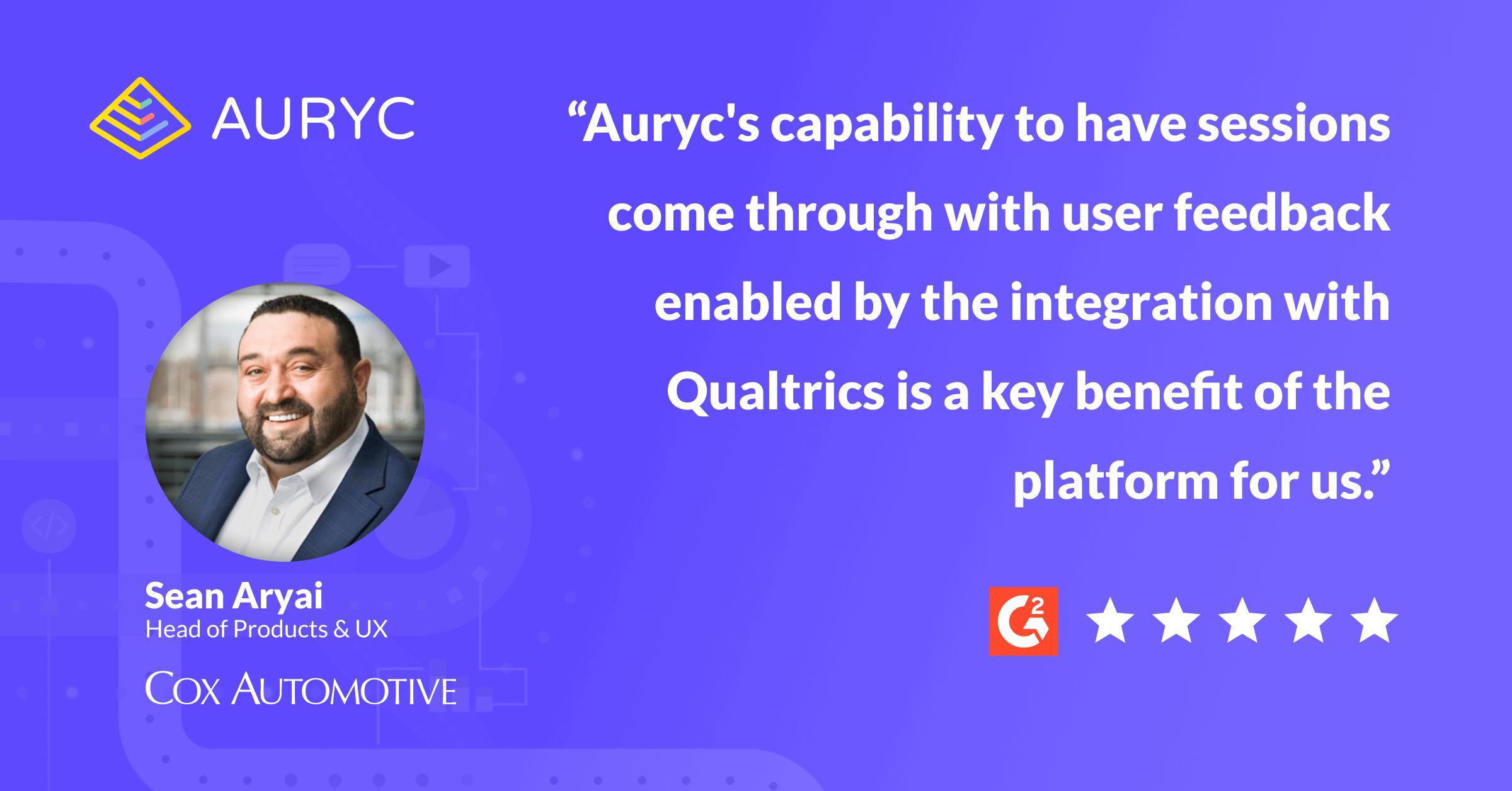 Auryc Review - Qualtrics Integration - Sean Aryai - Qualtrics Integration Key Value