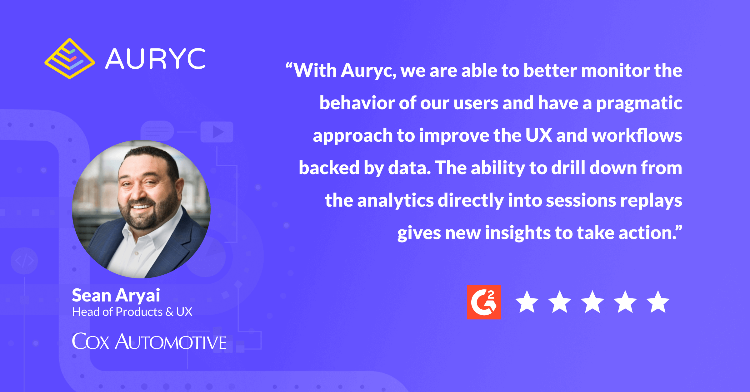 Auryc Review - Qualtrics Integration - Sean Aryai - Session Replay and Analytics Gives New Insights to Take Action