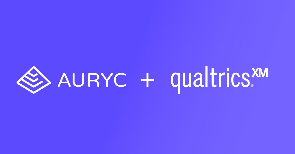 BLOG FI - Auryc Customer Experience Platform Integrates with Qualtrics Customer Feedback - session replay - impact performance analysis - product analytics